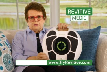 REVITIVE Medic DRTV Shoot with tennis legend Billie Jean King