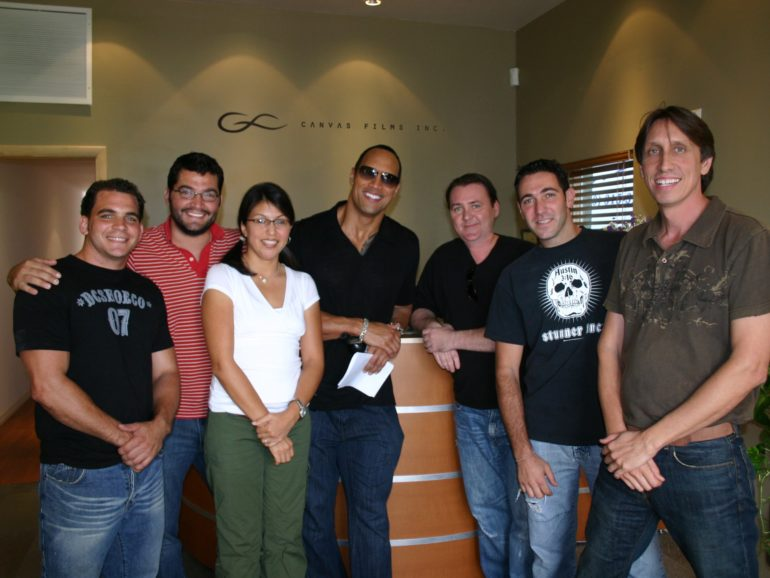 Celebrities at and with Canvas Films