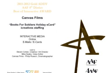 Canvas Films Wins 2011-2012 Gold Addy Award